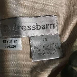 Dress Barn Dresses - Dress Barn Green Floral Maxi Dress